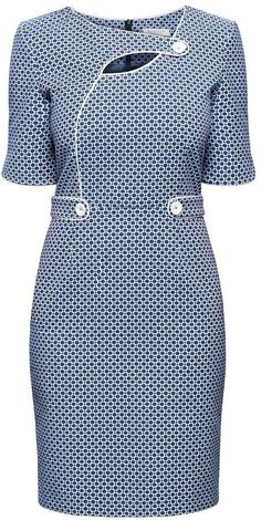 kitenge designs Rumour London - Francesca Polka Dot Dress With Keyhole Tab Neckline Work Dresses For Women, Clothes For Women, African Fashion Traditional, Chic Outfits, Fashion Outfits, Shweshwe Dresses, Latest African Fashion Dresses, Classy Dress, Dot Dress