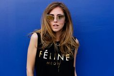 chiara-ferragni-style - Google Search Gone Tomorrow, Italian Girls, Hair Today, Hair Color, T Shirts For Women, Tank Tops, Image, Colour, Style