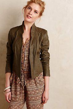 Distressed Leather Jacket - anthropologie.com