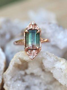 Light energy ring. Watermelon tourmaline Tourmaline Ring, Watermelon Tourmaline, Heart Chakra, Druzy Ring, Jewelery, Rocks, Rose Gold, Earth, Stone