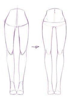 Cartoon Drawing Tips - Drawing On Demand Drawing Reference Poses, Drawing Poses, Drawing Lessons, Drawing Techniques, Drawing Tips, Leg Reference, Body Drawing, Figure Drawing, Anatomy Drawing