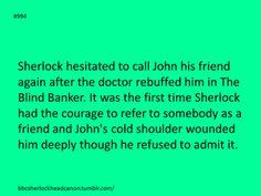 :'( Darn it, John.I'm so cautious, so scared of using that word. To use it truly, not just as an easy description to explain a casual association. Sherlock Holmes Bbc, Sherlock Fandom, Sherlock John, The Blind Banker, Vatican Cameos, Fandoms, Arthur Conan Doyle, John Watson, Johnlock