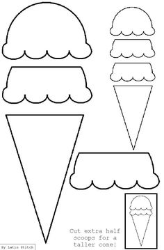 Ice Cream Cone Appliqué Template