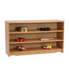 For Montessori home classroom: One of three shelves to include in the area {Closed Back Shelf 4 x 28}