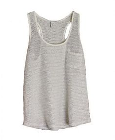 Grey Knit Tank Top with Pocket | TrendTwo