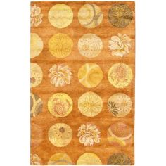 Safavieh Rodeo Drive Leanna Hand Tufted Wool Area Rug, Light Brown and Multi-Colored