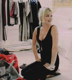 Kate Moss plus a room full of clothes equals perfect.