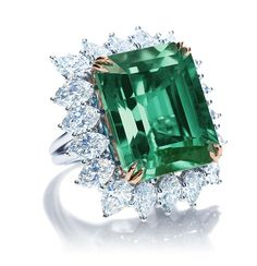 Harry Winston Emerald and Diamond ring