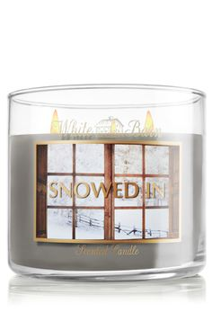 Snowed In Candle~Escape the frigid winter wind, wrap up in your toastiest blanket and warm up this inspiring blend of fresh juniper, sugared sap and sage for the perfect day in!