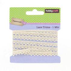 Hobbycraft Cream Cotton Lace Trim | Hobbycraft