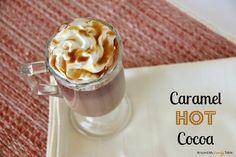Decadent Caramel Hot Cocoa - Around My Family Table Homemade Hot Chocolate, Hot Chocolate Recipes, Chocolate Party, Smoothie Drinks, Smoothie Recipes, Drink Recipes, Smoothies, Yummy Drinks, Yummy Food