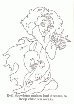 evil scowlene from moondreamers colouring page
