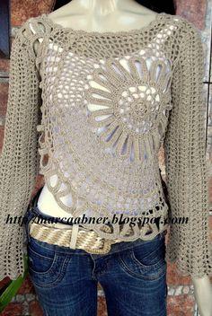 Marcinha Crochet: Crochet Blouses