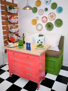 Upcycled: Awesome Kitchen Islands Made From Old Dressers
