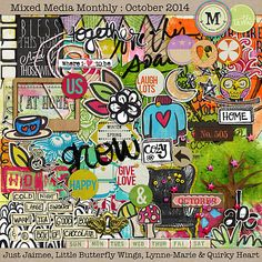 Mixed Media Monthly - Oct. '14 Main Kit by Lynne-Marie