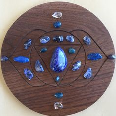 The 6th Chakra is also known as the Third Eye Chakra. This is a crystal grid is designed for the Third Eye Chakra.