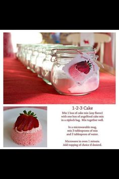 1-2-3 Cake cute for valentines day. would be good for xmas also. love the holday/celebration use of this idea