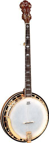 """Fender FB-59 Banjo, Natural by Fender. $1049.99. Our very finest banjo. The FB-59 easily competes with much more expensive banjos, and has the loud, ringing tone you need to cut through a blazing bluegrass band.  The FB-59 features a walnut resonator, walnut neck with maple strip, 26.4"""" scale, wood rim, gold hardware, rosewood fingerboard with mother-of-pearl inlay, a brass tone ring and a hard case"""