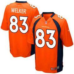 Wes Welker Denver Broncos Nike Youth Team Color Game Jersey - Orange - $34.99