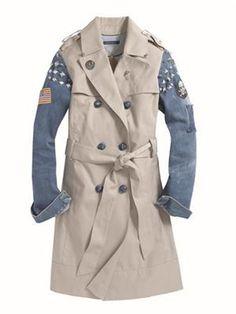 Denim Trench  Limited edition denim sleeve trench coat, Pamela Love for Tommy Hilfiger,  Select Tommy Hilfiger stores.