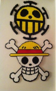 One Piece Trafalgar Law perler beads by FartingKittens on deviantart