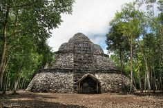 Cobá, Quintana Roo, Mexico | Not far from Tulum's ruins, Cobá was a pre-Columbian Mayan city. At its peak, it is said to have housed over 50,000 people. The site's tallest pyramid is 138 feet in height.