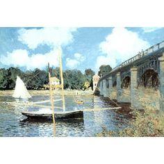 Amazon.com: Claude Monet (Highway Bridge at Argenteuil) Art Poster Print Poster Poster Print, 36x24
