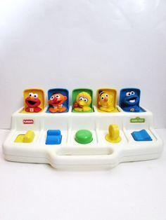 Playskool Sesame Street Busy Poppin' Pals 1990's by TimelessToyBox