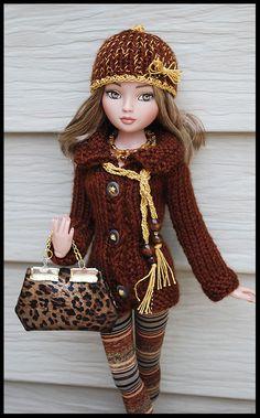 Barbie Knitting Patterns, Knitting Dolls Clothes, Crochet Dolls Free Patterns, Crochet Doll Clothes, Barbie Clothes, Barbie Dolls, Baby Knitting, Crochet Baby, Barbie Wardrobe