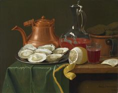 Image result for still life with oysters and lemon