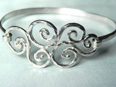 Spiral Swirls Sterling Silver Bracelet