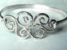 Spiral Swirls Sterling Silver Bracelet                                                                                                                                                                                 More