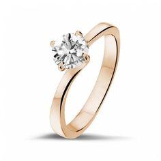 buy online 75c04 11f15 0.70 caraat diamanten solitaire ring in rood goud