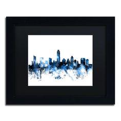 Austin Texas Skyline II by Michael Tompsett Framed Graphic Art