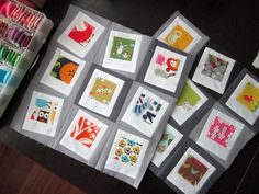 Polaroids on a Cloudy Day by StitchedInColor, via Flickr   I want to make an I-spy quilt like this.