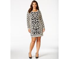 Inc International Concepts Plus Size Boldly-Patterned Sweater Dress View Tv, Lane Bryant, Plus Size Dresses, Charlotte Russe, Old Navy, Ralph Lauren, Casual, Sweaters, Stuff To Buy