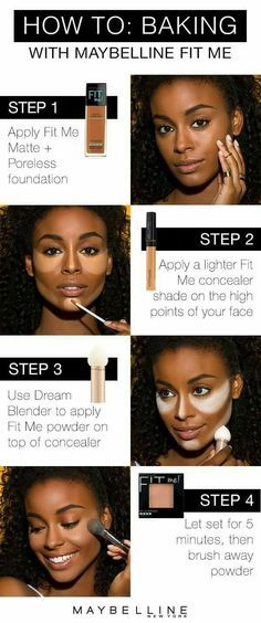 to bake like a makeup pro with Maybelline Fit Me! Foundation baking is th., Learn to bake like a makeup pro with Maybelline Fit Me! Foundation baking is th. Beauty Make-up, Beauty Hacks, Beauty Ideas, Beauty Skin, Beauty Guide, Beauty Care, Maquillage Black, Fit Me Matte And Poreless, Black Girl Makeup