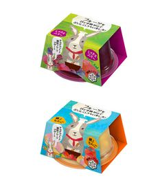 雪印メグミルク Megumiruku the cutest packaging with rabbits on it : ) PD