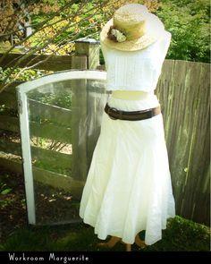 Edwardian inspired upcycled white lace camisole