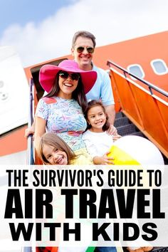 If flying with kids is in your future, this collection of 10 simple tips to make air travel with kids easier is JUST what you need! Toddler Travel, Travel With Kids, Family Travel, Family Trips, Family Vacations, Disney Vacations, Disney Trips, Vacation Trips, Vacation Ideas