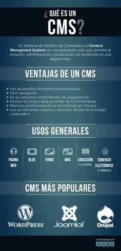 Qué es un CMS #infografia #infographic #internet
