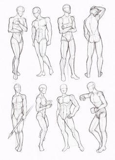 Resultado de imagen de male poses drawing