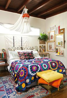 Rustic Home Decor Chic Boho Bedroom Decor Ideas that Will Get you Excited about Decorating Discover Ideas About Bohemian Bedroom Decor Bohemian Bedroom Decor, Bohemian Style Bedrooms, Bohemian Apartment, Boho Style, Boho Decor, Bohemian Interior, Bohemian Room, Decor Room, Bohemian Kids