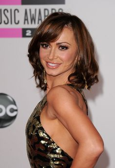 Karina Smirnoff Medium Curls with Bangs
