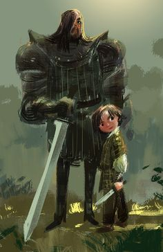 Arya & The Hound // By: Victoria Ying // Game Of Thrones // Sandor Clegane // Arya Stark