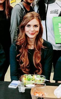 Holland Roden Promoting Meatless Monday in LA.