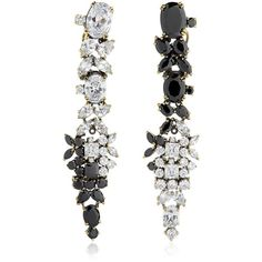 Designer Clothes, Shoes & Bags for Women Swarovski Crystal Earrings, Crystal Jewelry, Iosselliani, Diamond Earrings, Drop Earrings, Clip On Earrings, Black Earrings, Luxury Fashion, Accessories