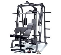 Marcy Deluxe Smith Machine Home Multi Gym with Weight Bench Smith Machine, Gym Workouts, At Home Workouts, Chest Workouts, Workout Exercises, Home Multi Gym, Diamond Furniture, Arm Curls, Band Workout