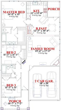 Bungalow House Plans - Home Design The Clyde # 17821 Bungalow House Plans, Craftsman Style House Plans, Cottage House Plans, Small House Plans, Cottage Homes, House Floor Plans, House Layout Plans, House Layouts, The Sims