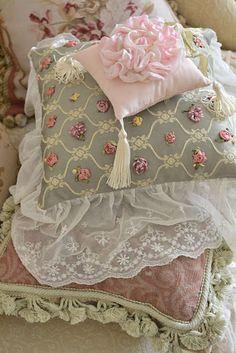 Linens & Fabric Magic...More Romance...pillows